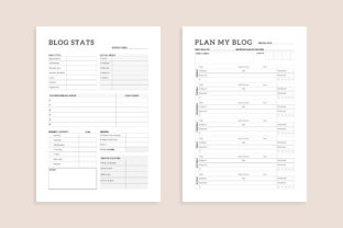 Print on Demand: Printable Blogger Planner 20 Pages Graphic KDP Interiors By AmitDebnath 3