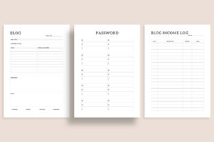 Print on Demand: Printable Blogger Planner 20 Pages Graphic KDP Interiors By AmitDebnath 4