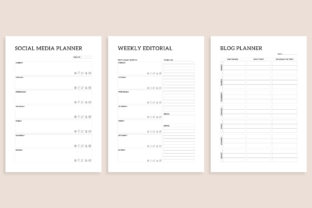 Print on Demand: Printable Blogger Planner 20 Pages Graphic KDP Interiors By AmitDebnath 6