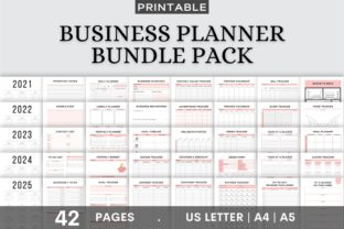 Print on Demand: Printable Business Planner Bundle Pack Graphic KDP Interiors By AmitDebnath 1
