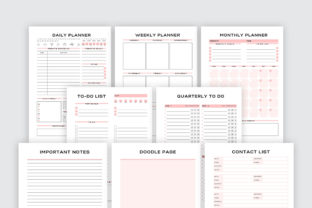 Print on Demand: Printable Business Planner Bundle Pack Graphic KDP Interiors By AmitDebnath 3
