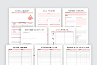 Print on Demand: Printable Business Planner Bundle Pack Graphic KDP Interiors By AmitDebnath 4