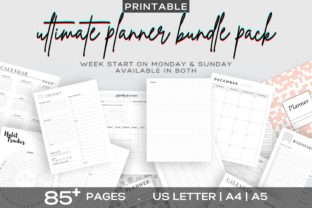 Print on Demand: Printable Ultimate Planner Bundles Graphic KDP Interiors By AmitDebnath