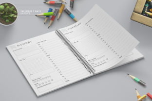 Print on Demand: Printable Ultimate Planner Bundles Graphic KDP Interiors By AmitDebnath 6
