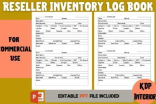 Print on Demand: Reseller Inventory Log Book Graphic KDP Interiors By Cool Worker