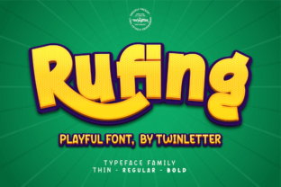 Print on Demand: Rufing Display Font By twinletter