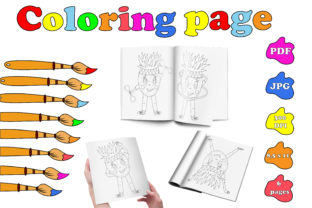 Sport Coloring Page PDF.Sporty Pineapple Graphic Coloring Pages & Books Kids By catcher_sketcher