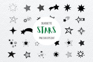 Stars Silhouette Bundle Graphic Print Templates By SvgOcean