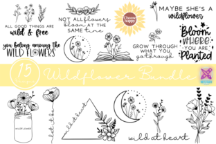 Sunflower and Wildflower SVG Bundle Graphic Crafts By Rumi Designed