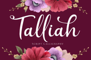 Print on Demand: Talliah Script & Handwritten Font By Maung Lines