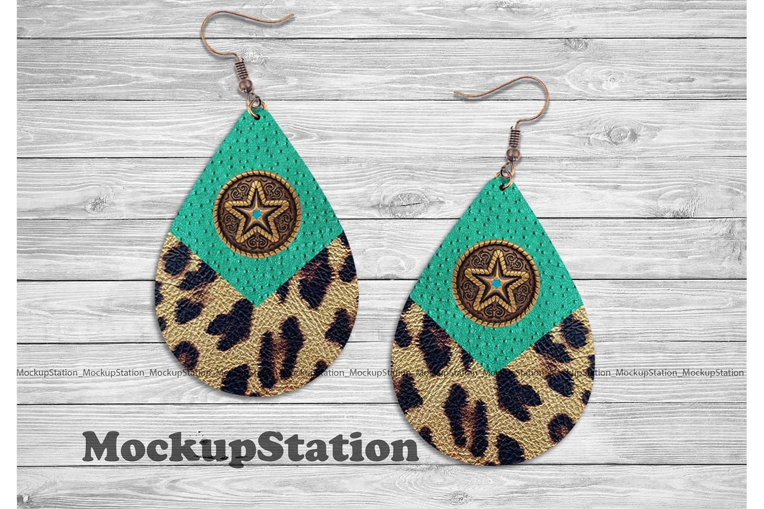 Texas Western Earring Sublimation Design SVG File