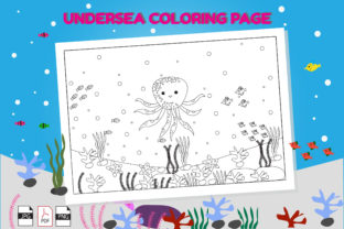 Print on Demand: Undersea Animal Coloring Page Graphic Coloring Pages & Books Kids By lizstudio