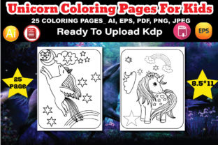 Unicorn Coloring Pages Interior Graphic Coloring Pages & Books Kids By design_Hutt