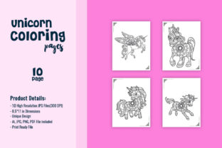 Print on Demand: Unicorn Coloring Pages - KDP Interiors Graphic Coloring Pages & Books Adults By TSDesign