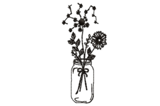Wildflowers Outline Outline Flowers Embroidery Design By designsbymira
