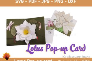 Print on Demand: 3D Lotus Pop-up Greeting Card Graphic 3D SVG By lasquare.info