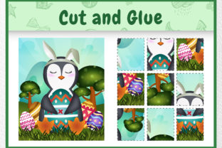 A Penguin Easter Animal - Cut and Glue Gráfico Quinto curso Por wijayariko