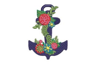 Anchor Beach & Nautical Embroidery Design By Embroidery Designs