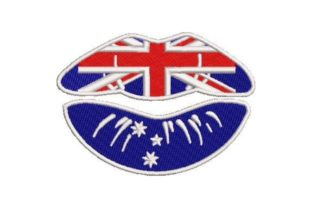 Australian Lips Australia Embroidery Design By Embroidery Designs
