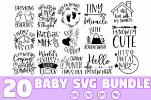 Print on Demand: Baby Quotes SVG Bundle Graphic Crafts By freelingdesignhouse