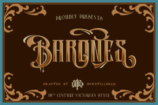 Print on Demand: Barones Blackletter Font By Burntilldead 1