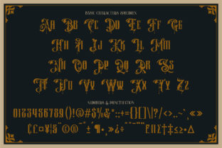 Print on Demand: Barones Blackletter Font By Burntilldead 5