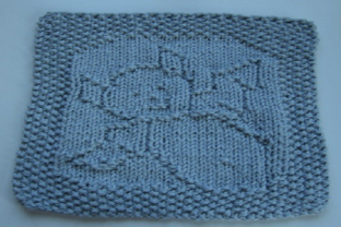 Print on Demand: Bat Knit Dishcloth or Afghan Pattern Grafik Stricken von Heather Wiegel