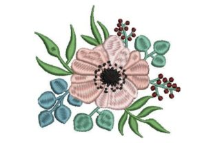 Bohemian Floral Design Single Flowers & Plants Embroidery Design By Embroidery Designs