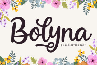 Print on Demand: Bolyna Script & Handwritten Font By Fallengraphic