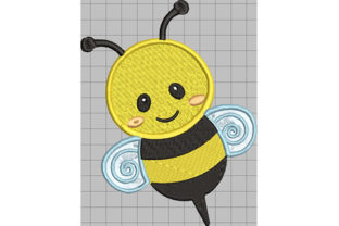 Print on Demand: Bumblebee Greeting Bugs & Insects Embroidery Design By Dizzy Embroidery Designs
