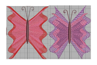 Print on Demand: Butterfly with Light Wings Animals Embroidery Design By Dizzy Embroidery Designs