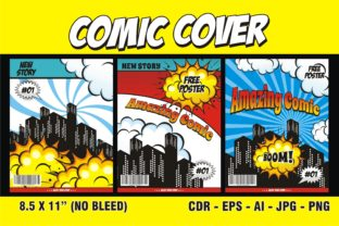 Print on Demand: Comic Cover Template KDP Interior Graphic KDP Interiors By edywiyonopp