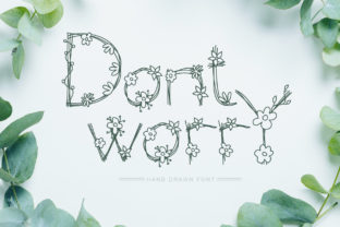 Print on Demand: Dont Worry Decorative Font By Happy Letters