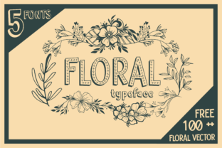 Print on Demand: Floral Display Font By dickysyafaat