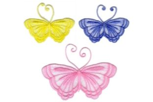 Freestanding Lace Butterfly Bugs & Insects Embroidery Design By Sew Terific Designs