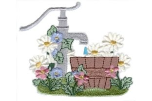 Garden Spigot Bouquets & Bunches Embroidery Design By Sew Terific Designs