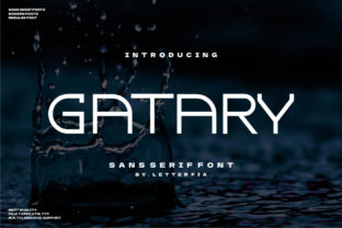 Print on Demand: Gatary Display Font By Letter Fia