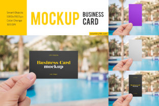 Hand Holding Business Card Mockup Set Graphic Product Mockups By country4k 1