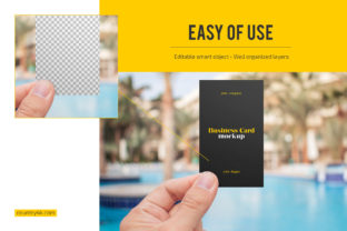 Hand Holding Business Card Mockup Set Graphic Product Mockups By country4k 3