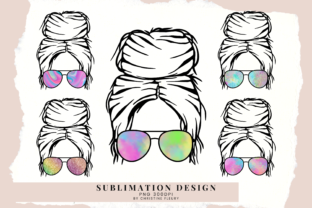 Print on Demand: Holographic Messy Bun, Sublimation Graphic Crafts By Christine Fleury