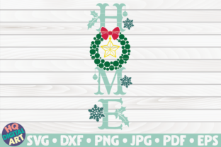 Home Porch Sign SVG | Winter/Christmas Graphic Crafts By mihaibadea95