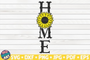 Home Porch Sign with Sunflower SVG Graphic Crafts By mihaibadea95