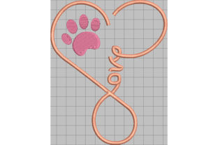 Print on Demand: I Love My Paw Dogs Embroidery Design By Dizzy Embroidery Designs
