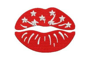 Lips Beauty Embroidery Design By Embroidery Designs
