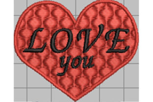 Print on Demand: Love You Lucky Charm Wedding Embroidery Design By Dizzy Embroidery Designs