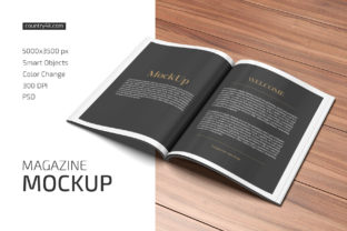 Magazine Mockup Graphic Product Mockups By country4k