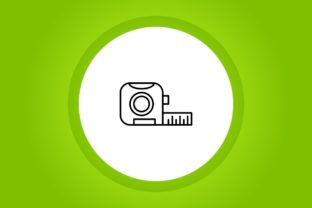Measuring Linear Green BG Icon Graphic Icons By adeel.anjum00