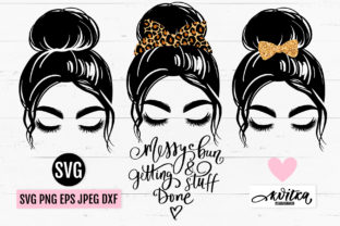 Messy Bun Hair SVG, Messy Bun Bundle Graphic Crafts By yana26789
