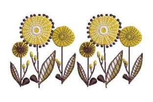 Mid Century Floral Design Bouquets & Bunches Embroidery Design By Embroidery Designs