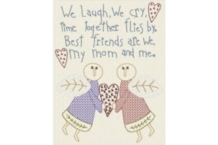 Mom & Me Mother's Day Embroidery Design By Sew Terific Designs